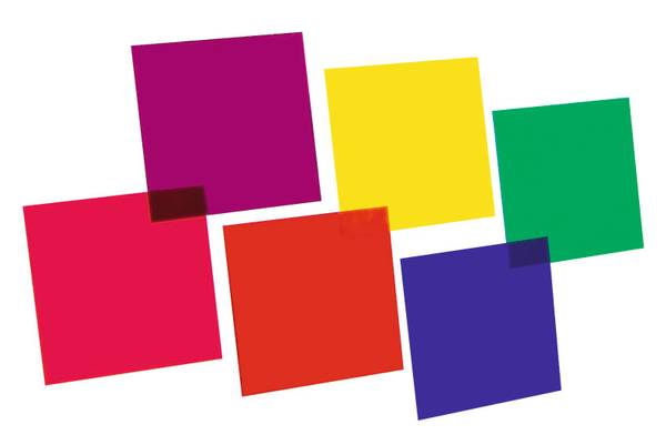 EUROLITE Color-foil set 24x24cm,six colors fargefolie 6stk